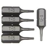 Bits Perfil Tork com 5 Peças 1/4 Pol. 6 mm - ROBUST-B625-T6
