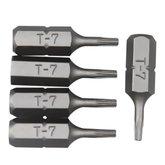 Bits tipo Tork com 5 Peças Encaixe de 1/4 Pol. - 7mm - ROBUST-B625-T7MM