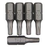 Bits Perfil Torx com 5 Peças 1/4 Pol. - T20 - ROBUST-B625-T20