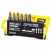 Adaptador para Bits com Engate Rápido com 6 Pontas - BLACK JACK-B471
