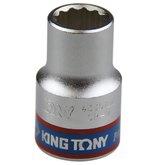 Soquete Estriado de 12 mm com Encaixe de 1/2 Pol. - KINGTONY-433012