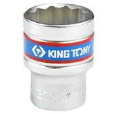Soquete Estriado de 22 mm com Encaixe de 1/2 Pol. - KINGTONY-433022MR