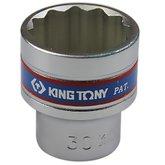 Soquete Estriado Curto 30 mm com Encaixe 1/2 Pol.  - KINGTONY-433030