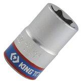 Soquete tipo Tork com Encaixe de 1/2 Pol. E20 - KINGTONY-437520M