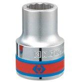Soquete Estriado com Encaixe de 3/4 Pol. - 23mm