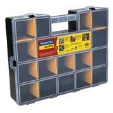 Maleta Organizadora Plástica 17 Pol. com 19 Compartimentos e 14 Divisórias Móveis