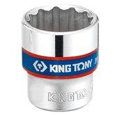 Soquete Estriado 6mm com Encaixe de 3/8 Pol. - KINGTONY-333006M