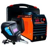 Kit Máquina de Solda Inversora Portátil Mono 125A 220V Smarter STAREVO150 + Máscara de Solda Tonalidade 11 FortG FG4000