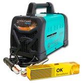 Kit Máquina Transformadora de Solda 260A 10,4KVA 110/220V Vulcano Pro Balmer PRO320 + Eletrodo Ok Serralheiro E6013 2,5mm 1Kg