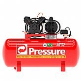 Compressor de Ar Monofásico 10 Pés 100 Litros Bivolt - PRESSURE-ATG2-10/100VM-N