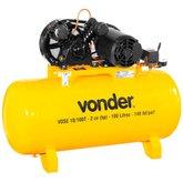 Compressor de Ar VDSE 2CV 10 Pés 100 Litros Trifásico 220/380V  - VONDER-68.29.610.133