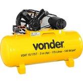 Compressor de Ar VDAT 3CV 15 Pés 175 Litros Trifásico 220/380V