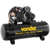 Compressor de Ar VDON 5CV 20 Pés 200 Litros Trifásico 220/380V - VONDER-6829620233