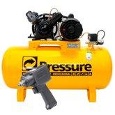 Kit Compressor de Ar 10 Pés 110/220V Pressure SE10/100V + Parafusadeira de Impacto Pneumática FortG Pro FG3100 - PRESSURE-K94