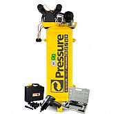 Kit Compressor Vertical Pressure SE15/175-VT 15 Pés + Jogo Parafusadeira FortG Pro FG3300-13 13 peças + Catraca Pneumática Waft 16 Peças - PRESSURE-K106