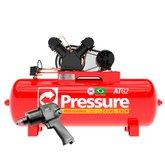 Kit Compressor de Ar Pressure ATG2-20/200VTN 20 Pés 200L Trifásico + Chave Parafusadeira de Impacto FortG Pro FG3300 1/2 Pol. 79,6Kgfm - PRESSURE-K108