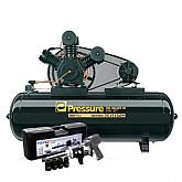 Kit Compressor Trifásico Pressure ON40425WTF + Parafusadeira de Impacto FortG Pro FG3400 + Mini Parafusadeira de Impacto Pneumática FortG Pro FG3100 - PRESSURE-K114