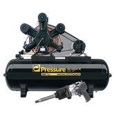 Kit Compressor de Pistão Pressure ONIX60/425 + Chave de Impacto Pneumática Shallper SK-79/S + Mini Parafusadeira de Impacto Pneumática FortG Pro FG3100 - PRESSURE-K115