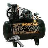 Kit Compressor Mono Industrial Schulz MONOCSL10BR + Parafusadeira de Impacto Pneumática FortG Pro FG3300 - SCHULZ-K117