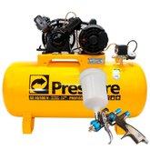 Kit Compressor de Ar Pressure SE10/100V Bivolt + Pistola para Pintura
