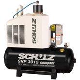 Compressor de Ar Rotativo de Parafuso SRP 3015 Compact III 15HP 7,5Bar 200L 220V