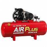 Compressor Air Plus CSL 20 Pés 150L 5HP 140PSI 220/380V Trifásico