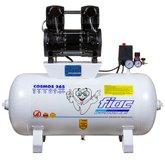 Compressor Odontológico 10 Pés 2CV 65 Litros Isento de Óleo 110V
