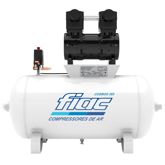 Compressor Odontológico 10 Pés 2CV 65 Litros Isento de Óleo 220V