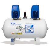 Compressor Odontológico 14 Pés 1,5 x 1,5CV 200 Litros Isento de Óleo Bivolt