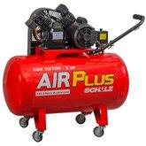 Compressor Air Plus 10 Pés 100L 2HP 140PSI 110V Monofásico com 4 Rodas