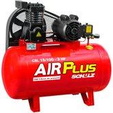 Compressor Air Plus 3HP 15 Pés 100L 140PSI 110/220V Monofásico