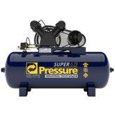 Compressor de Ar 15 Pés 140 PSI 175 Litros Monofásico 110/220V