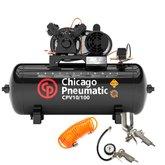 Kit Compressor de Ar CHICAGO 8969010000 2HP 10 Pés 100 Litros 110/220V Mono + Kit de Pintura FORTGPRO FG8684 3 Peças