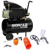 Kit Motocompressor SCHULZ-CSI-8525-AIR 8,5 Pés 110V Mono + Kit de Pintura com 5 Peças