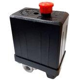 Pressostato Vertical 90/120PSI com Chave Válvula e Manifold 4 Vias para Compressor