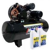 Kit Compressor 20 pés 200 Litros Trifásico 220/380V MOTOMIL CMAV 20/200 + 2 Óleos Lubrificante 1 Litro