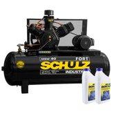 Kit Compressor SCHULZ-MSW40/425-MTB 40 Pés 425 Litros Trifásico 220/380V + 2 Óleos Lubrificante 1 Litro