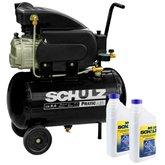 Kit Motocompressor SCHULZ-CSI-8525-AIR 8,5 Pés 25L 220V Monofásico + 2 Óleos Lubrificante 1 Litro