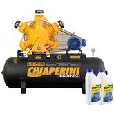 Kit Compressor de Ar CHIAPERINI-CJ60APW425L 425L 60 Pés Trifásico + 2 Óleos Lubrificante 1 Litro
