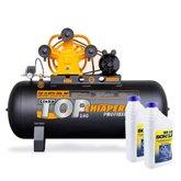 Kit Compressor CHIAPERINI-MPV3 15/200L 3HP Monofásico + 2 Óleos Lubrificante 1 Litro