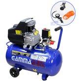 Compressor de Ar 2HP 50 Litros Bivolt com Kit de Pintura - GAMMA-G2802KBR