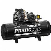 Compressor de Ar Pratic Air CSL 20/150 Monofásico  - SCHULZ-921.3536-0