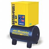 Compressor de Ar de Parafuso 4HP 10 Bar 17,6PCM Trifásico 67 Litros 380V - METALPLAN-ROTORPLUS0049AC