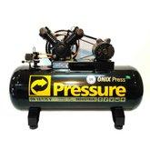 Compressor de Ar Monofásico 10PCM 175 Litros Ônix - PRESSURE-ON10/175VM-N