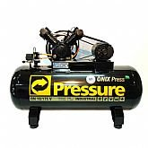 Compressor de Ar Trifásico 10PCM 175 Litros Ônix - PRESSURE-ON10/175VT-N
