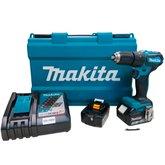 Parafusadeira/Furadeira à Bateria Brushless 18V 3.0 com Maleta, 2 Baterias Lition e Carregador Bivolt - MAKITA-DHP483RFE-BIVOLT