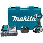 Parafusadeira de Impacto à Bateria 18V 3.0 Ah Íons-Lítio com 2 Bat. e Maleta - MAKITA-DTD154RFE-BIVOLT