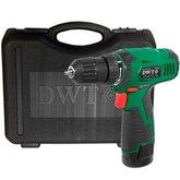 Parafusadeira/Furadeira 3/8 Pol. com 2 Baterias 10,8V Lition + Carregador Bivolt + Maleta + Acessórios - DWT-PFD-010