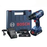 Parafusadeira/Furadeira de 1/2 Pol. com 2 Baterias 18V Lítio, Carregador Bivolt e Maleta - BOSCH-GSR180LI