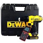 Kit Parafusadeira Dewalt DCD776C2BR + Trena Laser FortG Pro FG026 - DEWALT-K165